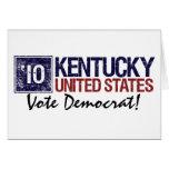 Vintage Kentucky de Demócrata del voto en 2010 - Felicitación