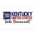 Vintage Kentucky de Demócrata del voto en 2010 - Postal