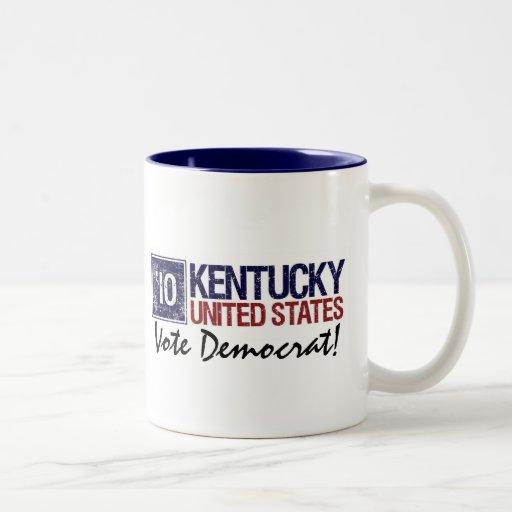 Vintage Kentucky de Demócrata del voto en 2010 - Taza