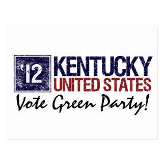 Vintage Kentucky del Partido Verde del voto en 201 Postal