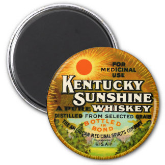 Vintage Kentucky Whiskey Label 2 Inch Round Magnet