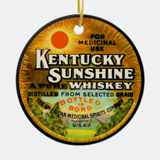 Vintage Kentucky Whiskey Label Christmas Tree Ornaments