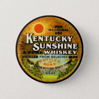 Vintage Kentucky Whiskey Label Pinback Button