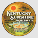 Vintage Kentucky Whiskey Label Round Stickers