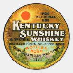 Vintage Kentucky Whiskey Label Classic Round Sticker