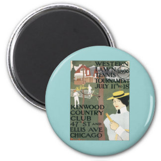 Vintage Kenwood Chicago 2 Inch Round Magnet