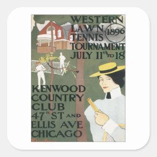 Vintage Kenwood Chicago Square Sticker