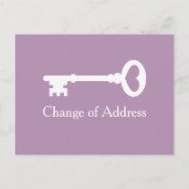 Vintage key change of address moving postcards