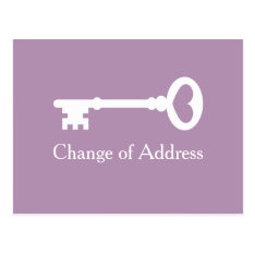 Vintage Key Change Of Address Moving Postcards at Zazzle