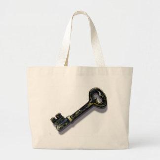 Vintage Key Large Tote Bag