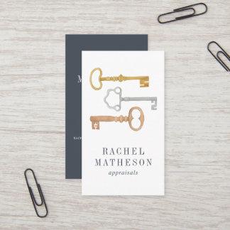 Vintage Key | Real Estate Appraiser Vertical Business Card