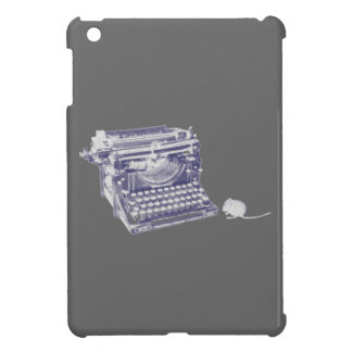 Vintage keyboard and mouse iPad mini case