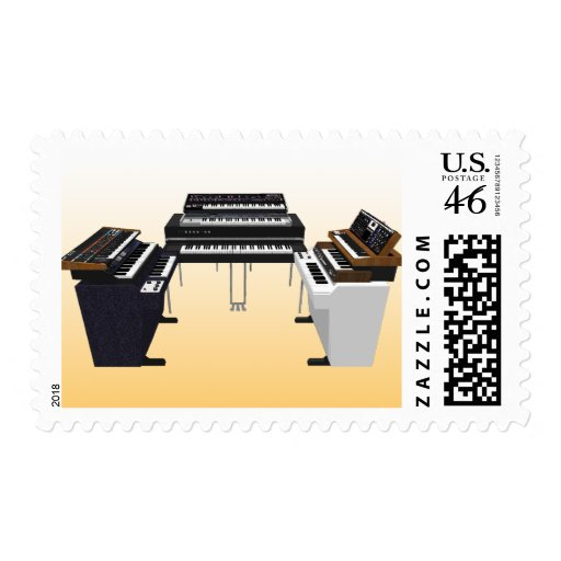 Vintage Keyboards: 3D Model: Custom Postage