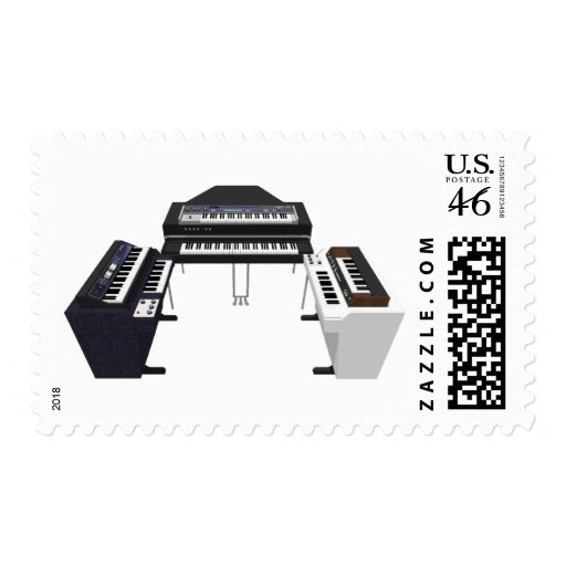 Vintage Keyboards: 3D Model: Postage