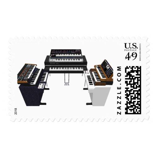 Vintage Keyboards: 3D Model: Postage Stamp