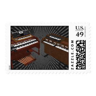 Vintage Keyboards: 3D Model: Postage Stamps