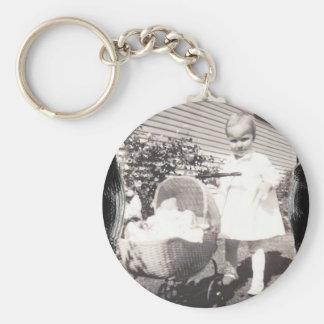 Vintage Keychain - baby buggy