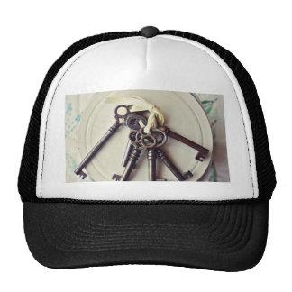 vintage keys hats