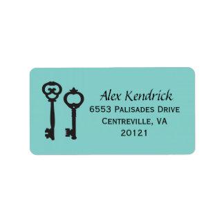 Vintage Keys Labels - Blue