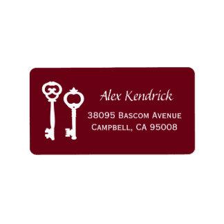 Vintage Keys Labels - Wine