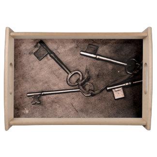 Vintage Keys Serving Tray