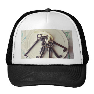 vintage keys trucker hat