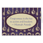 Vintage Keys with Hannah Arendt Quote Stationery Note Card