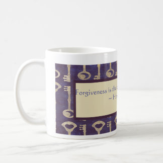 Vintage Keys with Hannah Arendt Quote Mug