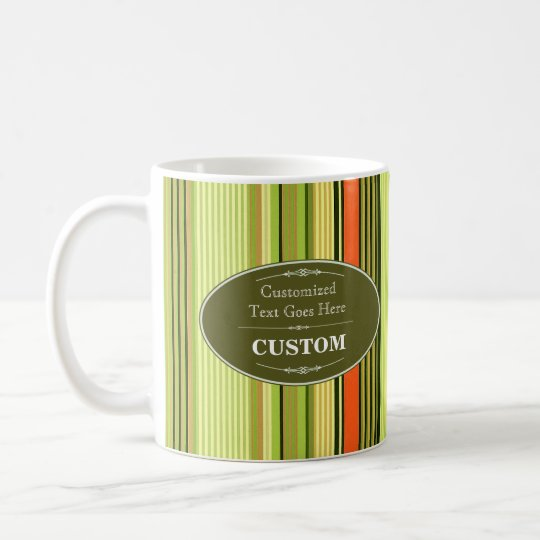 Vintage Khaki Label Striped Background Coffee Mug