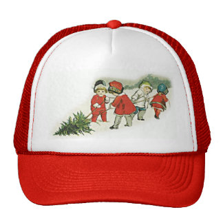 Vintage Kids and Christmas Tree Trucker Hat