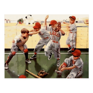 Vintage Kids Baseball Postcard