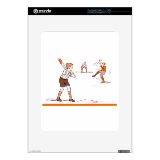 Vintage Kids Boys Baseball Game Decals For The iPad