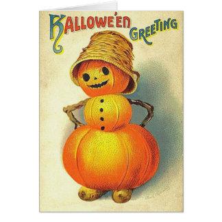 Vintage Kids Halloween Card