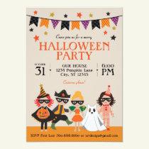 Vintage Kids Halloween Party Invitation