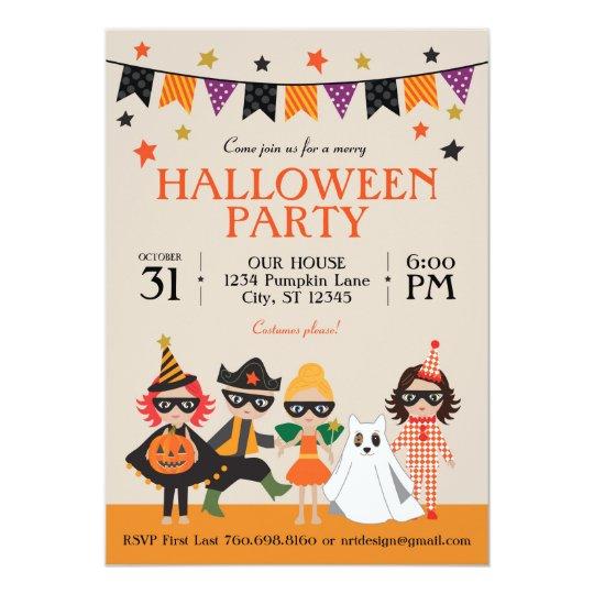 vintage kids halloween party invitation zazzle com