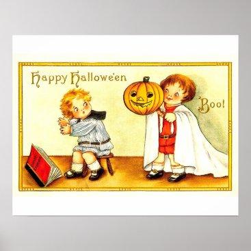 Halloween Themed Vintage Kids Happy Halloween Poster