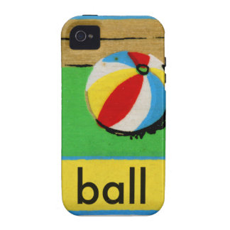 Vintage Kids Spelling Alphabet B is for Ball Case-Mate iPhone 4 Case