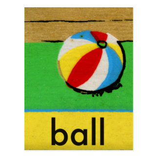 Vintage Kids Spelling Alphabet B is for Ball Postcard