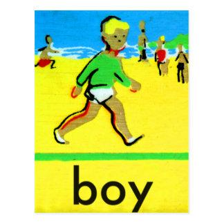 Vintage Kids Spelling Alphabet B is for Boy Postcard