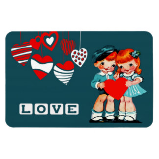Vintage Kids Valentine's Day Gift Magnets