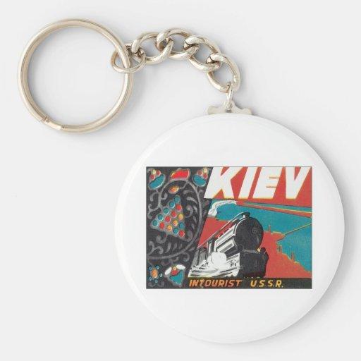Vintage Kiev Ucrania Llaveros Personalizados