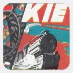 Vintage Kiev Ucrania Pegatina Cuadrada
