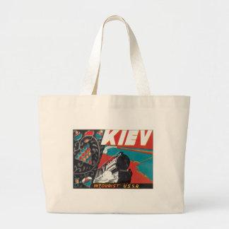 Vintage Kiev Ukraine Large Tote Bag