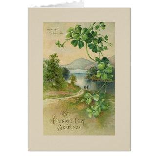 Vintage Killarney Lake St. Patrick's Day Card