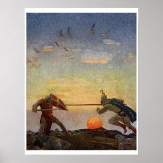 Vintage King Arthur Series 3 Art Print Poster