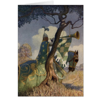 Vintage King Arthur Series 5 Greeting Card
