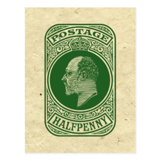 Vintage King Edward VII Prepaid Envelope Halfpenny Postcards