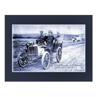 Vintage King Victor Emmanuel III of Italy in car Postcard