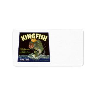 Vintage Kingfish California Green Asparagus Label