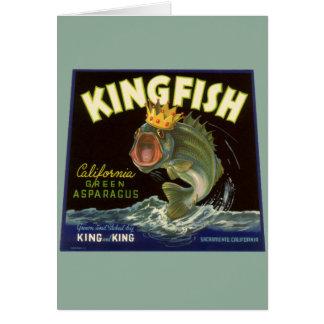 Vintage Kingfish California Green Asparagus Label Cards